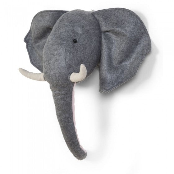 Felt elephant head wall decor