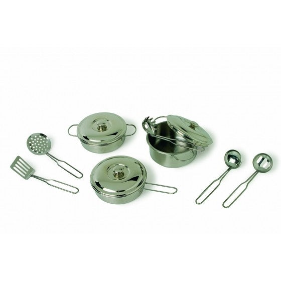 Children's metal cooking utensils set