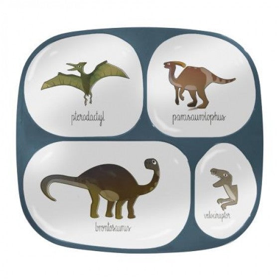 Sebra Interior Dino melamine plate with 4 rooms