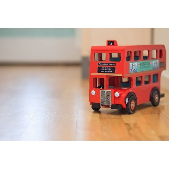 Red London Bus Wooden Toy Le Toy Van