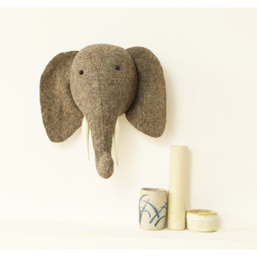 Fiona Walker Elephant Head With Trunk Up