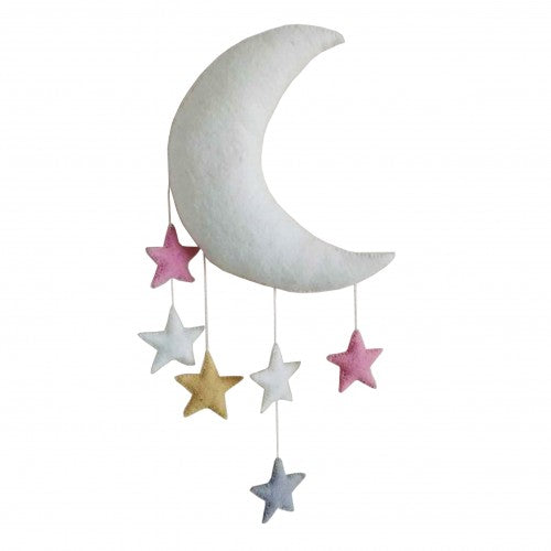 Pastel moon and stars wall decoration