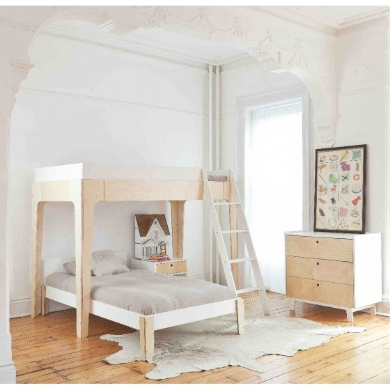 Oeuf NYC Pirch Twin Loft Bunk Bed - Birch