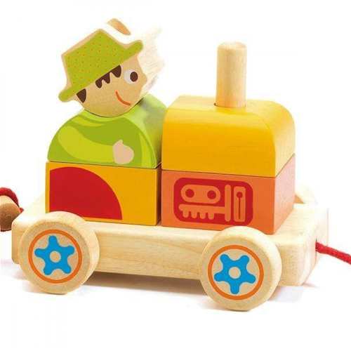 Djeco pull along activity train