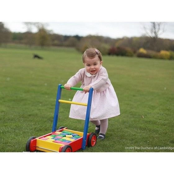 Tidlo Traditional wooden baby walker with abc blocks