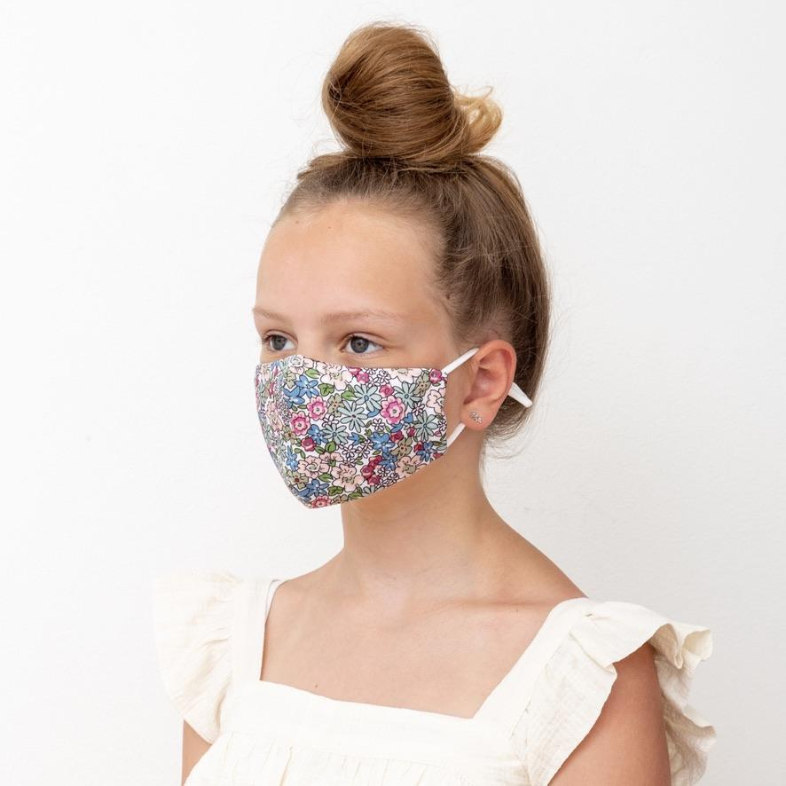 Floral print face mask