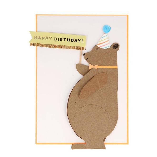 Meri Meri Honey Bear Stand-Up Card