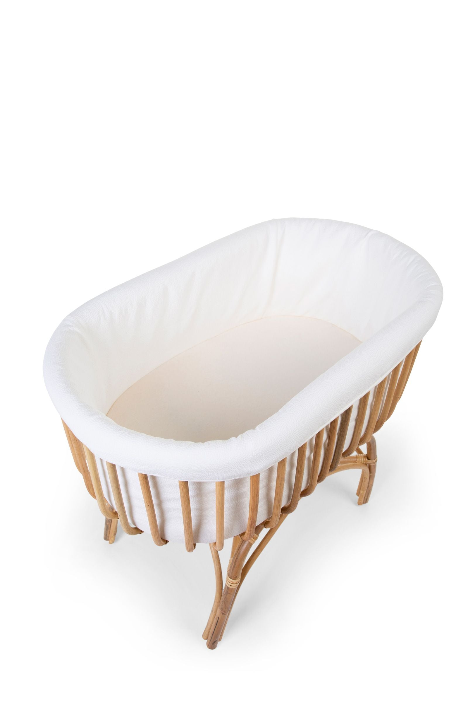 Rattan Cradle Cover - Jersey Off White