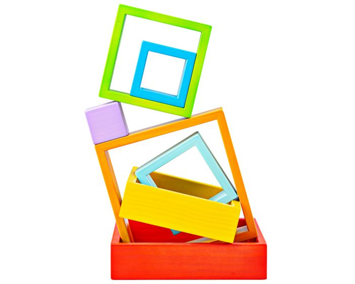 Bigjigs Wooden Stacking Squares