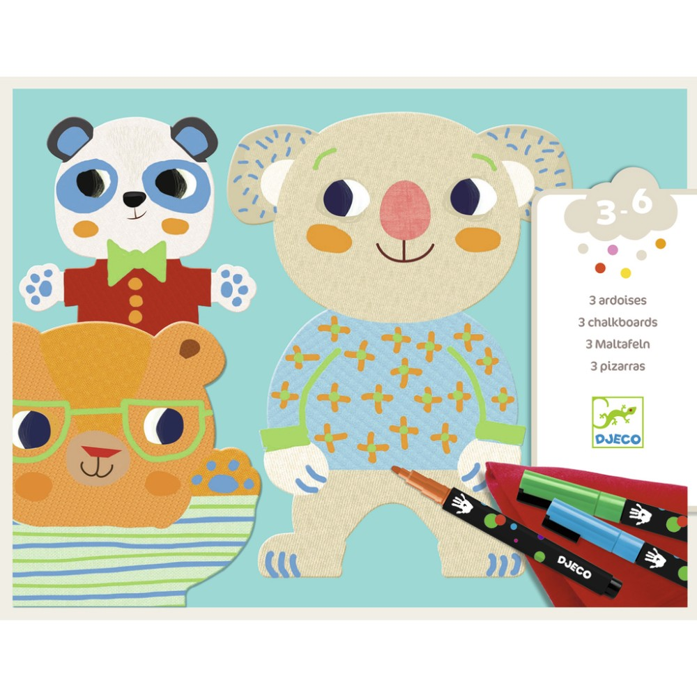 Djeco design chalkboard, Cuties