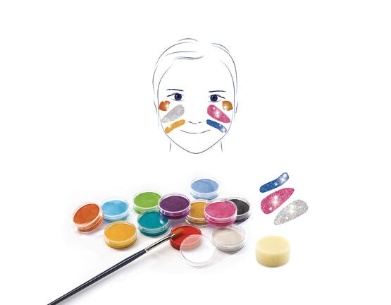 Djeco glitter face painting kit