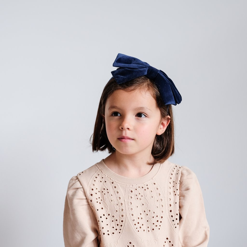 Mimi and Lula Oversized velvet bow headband