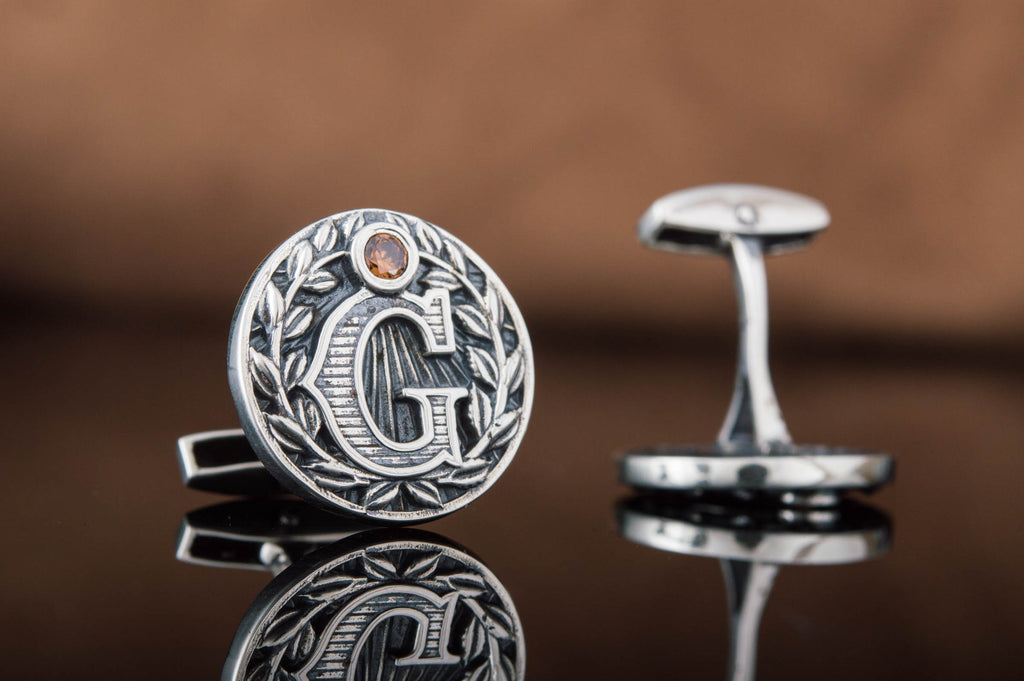 Unique Masonic Cufflinks with Symbols Sterling Silver Handmade Jewelry