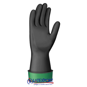 GUANTE LATEXPORT IND. NEGRO CL-35 TALLA 8 - 8 1/2 (M)