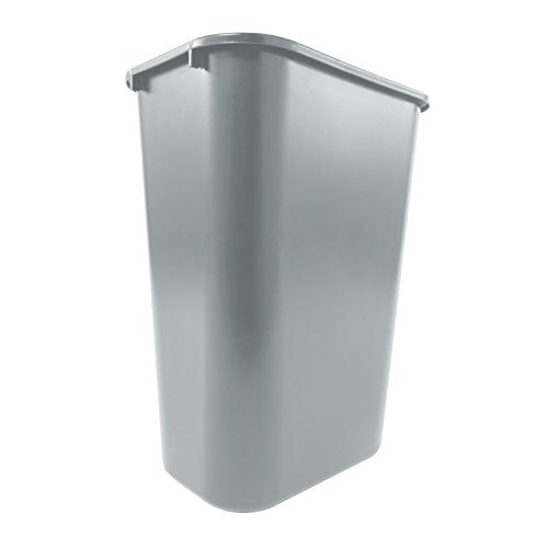 PAPELERA RECTANGULAR GRANDE CAP. 39 LTS. GRIS  - RUBBERMAID