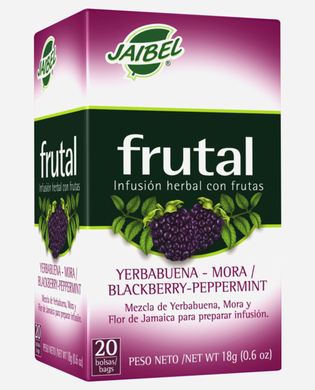 AROMATICA INFUSION HERBAL FRUTAL YERBABUENA-MORA  X 20 UD