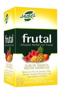 AROMATICA INFUSION HERBAL FLOR JAMAICA-FRUTOS AMARILLOS X 20 UD