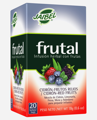 AROMATICA INFUSION HERBAL FRUTAL CIDRON-FRUTOS ROJOS X 20 UD