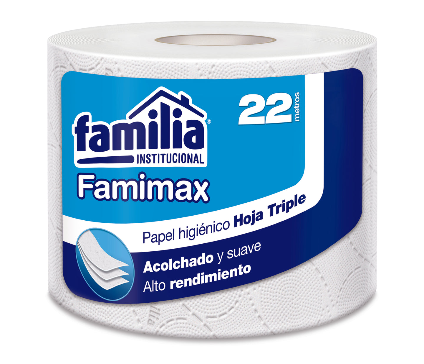 PAPEL HIG. T.H.  BLANCO FAMIMAX 1 X 22 MTS ROLLO - FAMILIA