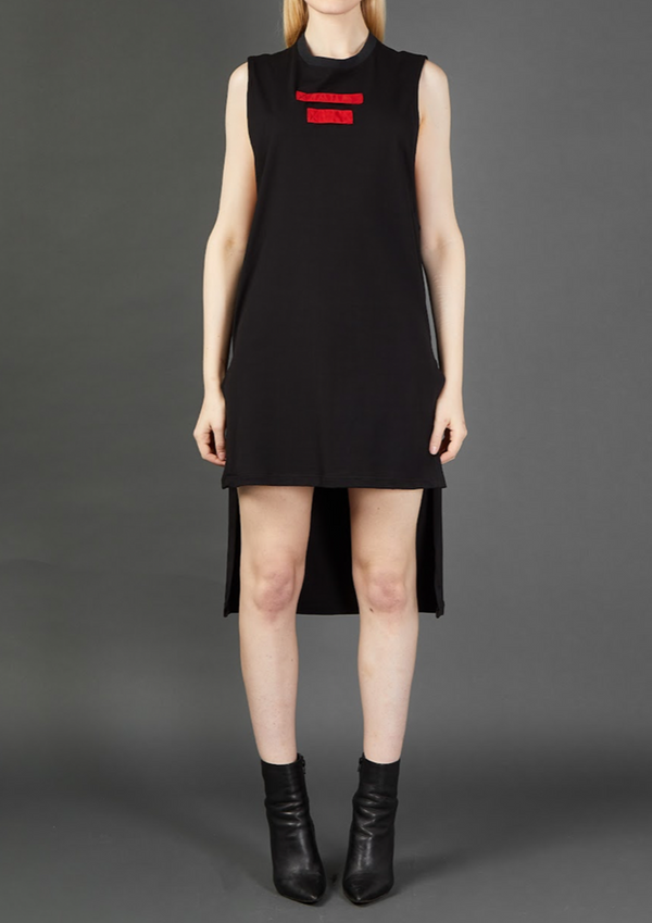 Black/Red Long Tunic - Dhenze
