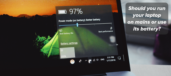 Should you run your laptop on mains or use its battery?