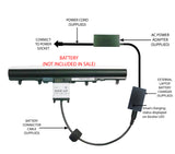 External Laptop Battery Charger for Acer Aspire E1-572, V5-471, V5-571, AL12A32 1