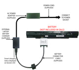 External Laptop Battery Charger for Clevo N240BU N240JU N250LU N250JU, N240BAT-4 1