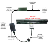 External Laptop Battery Charger for Dell Vostro 14 (3458) Vostro 15 (3558) M5Y1K 1