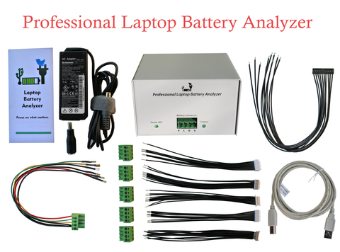 Professional Laptop Battery Analyzer Tester Repair Charger Discharger Capacity Correction - Video Live Review - Universal Laptop Battery Tester with Latest Technology