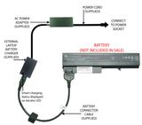 External Laptop Battery Charger for HP NC6220 NX6325 6910P, 408545 409357 415306 1