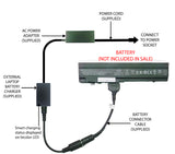 External Laptop Battery Charger for HP Mini 5101 5102 5103, GC04 532492-x 579026 1