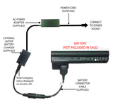 External Laptop Battery Charger for HP Mini 110-30xxxx, CQ10-4xxxx, 03TY, 607762 1