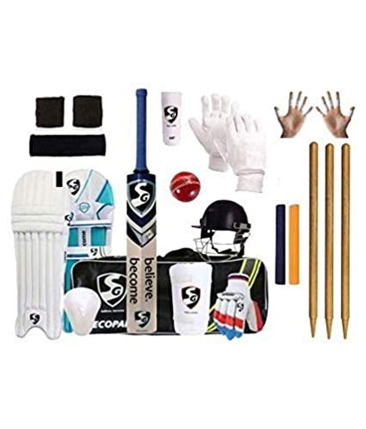 SG Full Cricket Kit with Bag and with Slax Brand Stumps