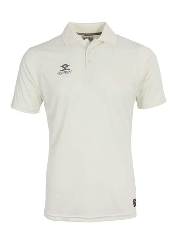 Shrey Cricket White T-Shirt