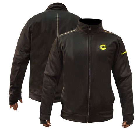 SS Supreme Neon Sporty Jacket with Thumbhole - Black (M)