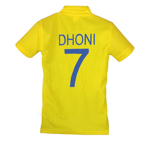DHONI 7 Chennai Super Kings Unisex IPL Jersey ALL Sizes