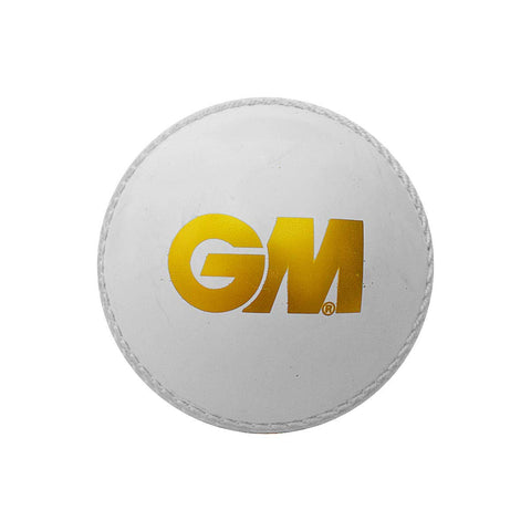 GM Skill Poly Cricket Ball Soft (White/Red)