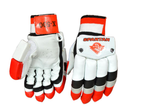 Spartan X-500 Red Professional Batting Gloves