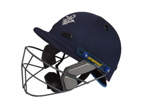 Spartan Star Blue Cricket Helmet