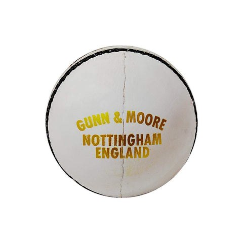 GM County Star Leather Cricket Ball (White)