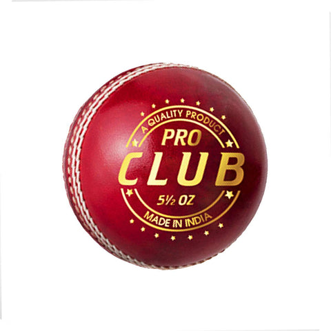 DSC Pro Club Cricket Leather Ball (Red)