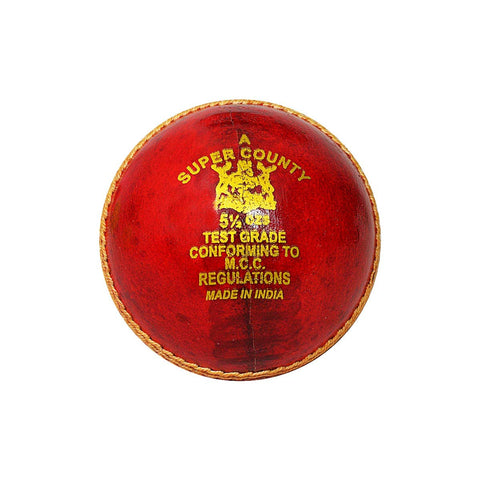 GM Super County Leather Cricket Ball Red