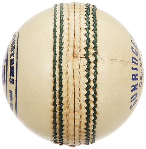 SS County Cricket Ball, Pack of 6 (White)