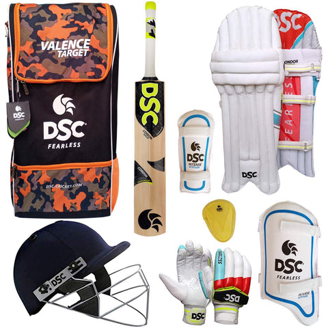 DSC Kashmir Willow Cricket Kit with Helmet
