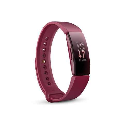Fitbit Inspire Health and Fitness Tracker (Black & Red)