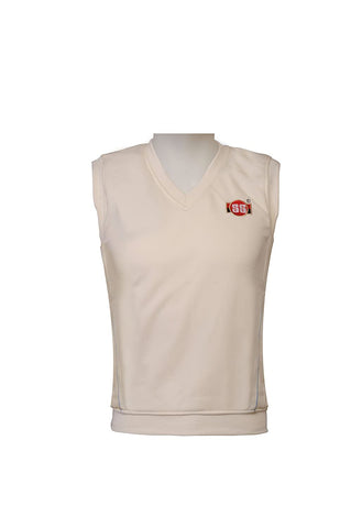 SS Professional Sleeveless Sweater (White)