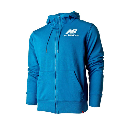 new balance Men's Essentials Stacked Full Zip Hoodie Jacket