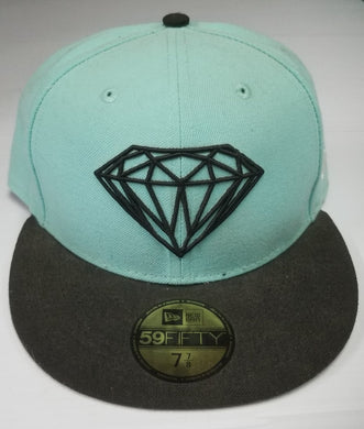 Diamond 59Fifty Teal and Black DiamondLife Fitted 7 7/8 62.5 cm Hat