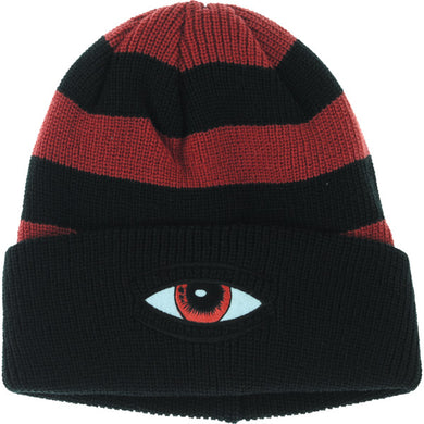 Toy Machine Sect Eye Stripe Dock Black Beanie