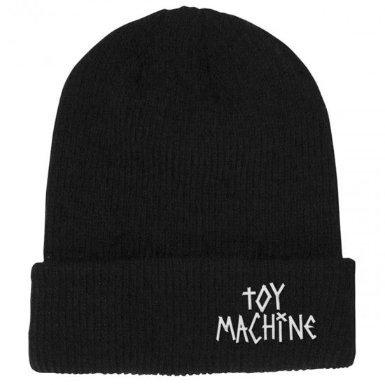 Toy Machine Tape Logo Black Beanie